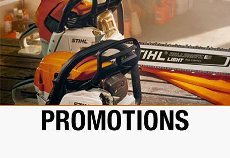 Promotion sur les tronçonneuses STIHL